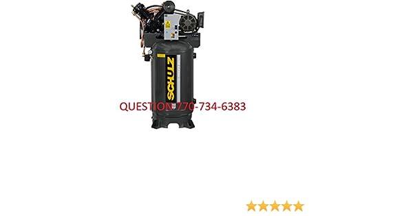 Schulz Compressor 175 PSI 30 CFM 7.5hp Single Phase 80 Gallon