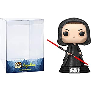 Dark Side Rey: Funk o Pop! Vinyl Figure Bundle with 1 Compatible 'ToysDiva' Graphic Protector (359 – 47989 – B)