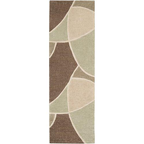 - Surya Cosmopolitan COS-8893 Contemporary Hand Tufted 100% Polyester Sage Green 2'6