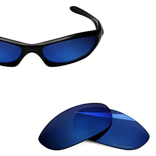 BlazerBuck Anti-salt Polarized Replacement Lenses for Oakley Monster Dog - Midnight Blue
