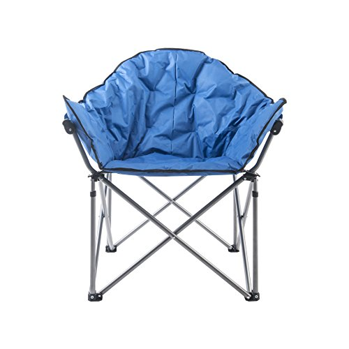ECOLINEAR Oversized Folding Saucer Moon Chair Camping Club Oxford Seat ()