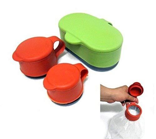Food Multifunctional Silicone Sealing Cap. 3-piece Set, Food Saver Cap. 3 Piece Set. Food Sealingcap By Giftkoncepts