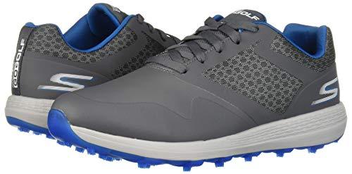 Skechers Men's Max Golf Shoe, Charcoal/Blue, 10.5 M US