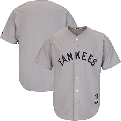 VF New York Yankees MLB Mens Majestic Cool Base Cooperstown Jersey Gray Big & Tall Sizes (XLT)
