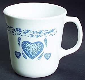 Corning Blue Hearts Mug, Fine China Dinnerware