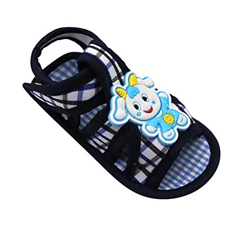 IEasⓄn_Baby Shoes ,Age of 0~6 M/6~12 M/12~18 M Baby Girl Single Shoes Cute Lamb Prewalker Soft Sole Sandals Black