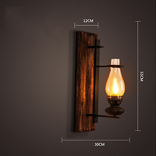 Creative Retrò Lampada Da Parete,Ristorante Bar Illuminazione Lampade Da Tavolo CafÉ Decorazione Lampada Da Parete Stile Industriale Ferro Solido Legno Engineering Lampada Da Parete S