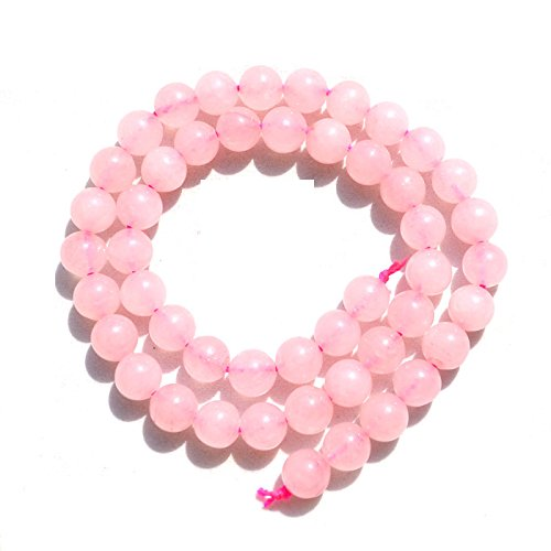 Vintage Pink Color Crystal Necklace - Pink Rose Quartz Gem Natural Stone Jewelry Findings Loose Beads Vintage Necklace Earrings Spacer Crystal Making Gemstone Accessories Pick Size 4/6/8/10/12mm 1 Strand 15.5 inches (8mm, pink Quartz)