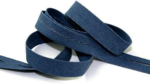 20 mm Rollo de cinta de bies de algodón de denim azul – por 15 m + libre Minerva Crafts Craft guía: Amazon.es: Hogar