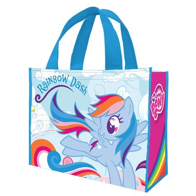 Vandor 42273 My Little Pony Rainbow Dash Large Recycled Shopper Tote, Multicolor ()