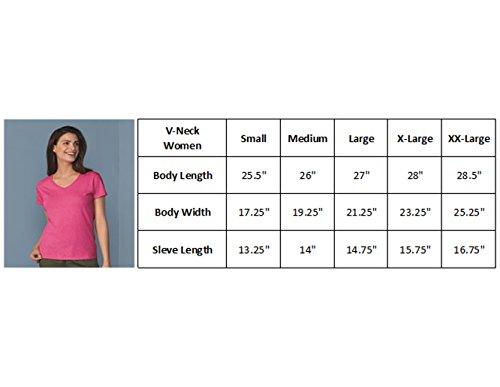 Camalen My Brain Has Too Many Tabs Open V-Neck T-Shirts for Women(Azalea,Medium) by Camalen (Image #2)