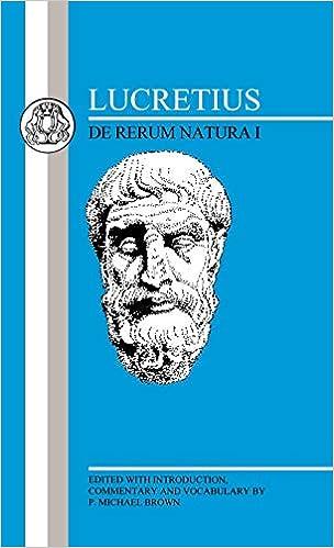 Amazon   Lucretius: De Rerum N...