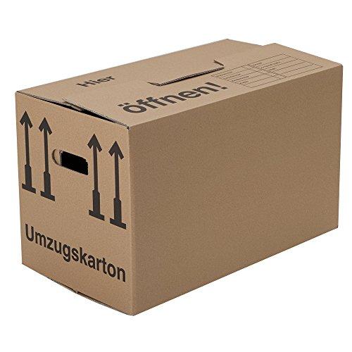 BB-Verpackungen Umzugskartons, 25 Stück, (Profi) STABIL + 2-WELLIG - Umzug Karton Kisten Verpackung Bücher Schachtel