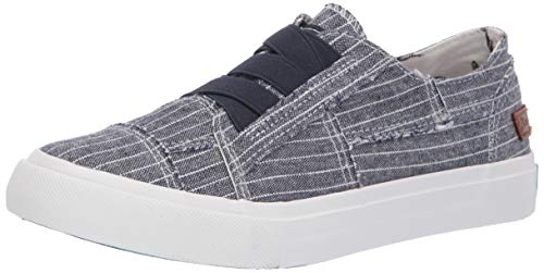 Blowfish Women's Marley Sneaker, Navy Hammock Stripe Print, 6 M US