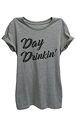 Day Drinkin Drinking Relaxed T-Shirt Tee Heather Grey