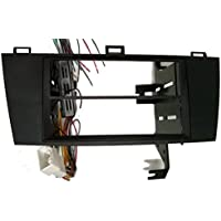 Toyota Solara (2004-2008) Double Din Black Colored Radio Installation Package. Includes the wiring, trim kit and maintains the factory amp when replacing a standard JBL factory system