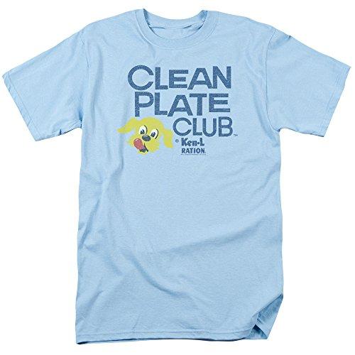 Ken L Ration Brand Dog Pet Food Clean Plate Vintage Style Adult T Shirt Tee