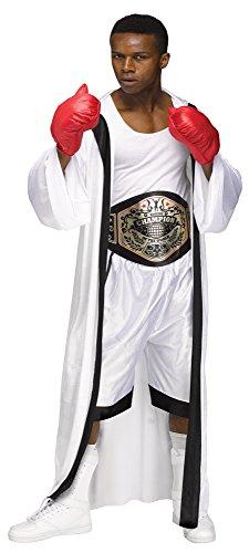 Boxing Costume For Men - Fun World Men's the Champ, White, Standard