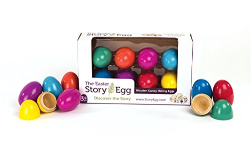 Easter Keepsake - STORY EGG Easter Wooden Candy Hiding Eggs