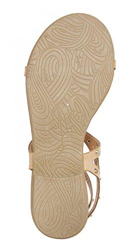 Sandalias de Mujer MTNG 55632 VACHE NATURAL-ORO