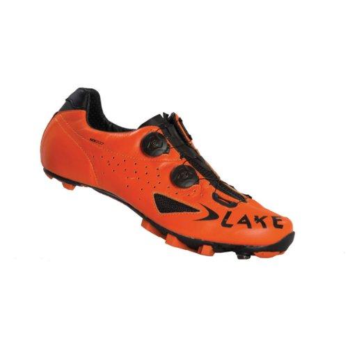 Lake - Zapatillas de ciclismo para hombre Naranja y negro