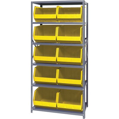 Quantum Storage Bin Complete Package Unit - 18in. x 36in. x 39in. Rack Size, 21 Bins, Yellow by Quantum