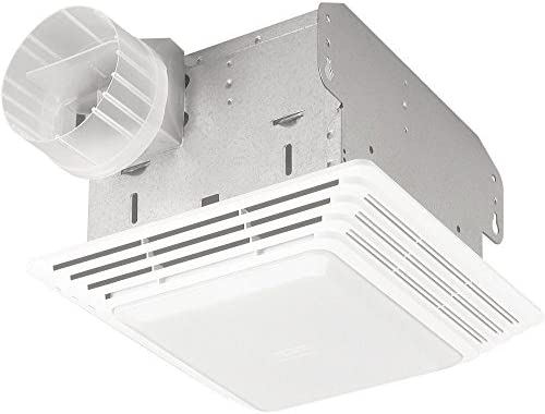 Broan-Nutone 503 Exhaust Fan, White Side Discharge Ceiling or Wall Ventilation Fan, 5.0 Sones, 160 CFM, 8