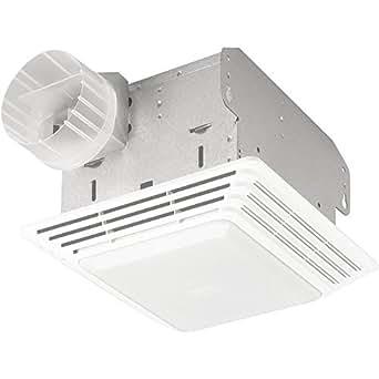 Broan 680 Fan and Incandescent Light, 100 CFM 4.0 Sones, White Grille