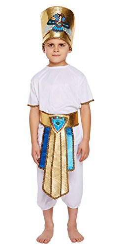 MA ONLINE Kids Egyptian Boy Dress up Costume Children Fancy Party World Book Wear Outfit Medium