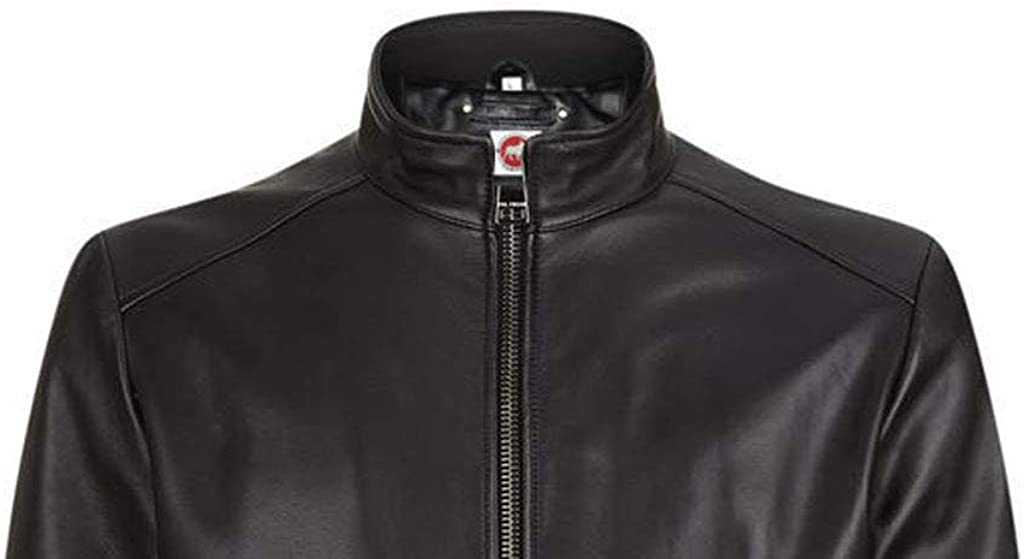 Takitop Viking Classic Black Bomber Style Real Leather Jacket Men Big and Tall