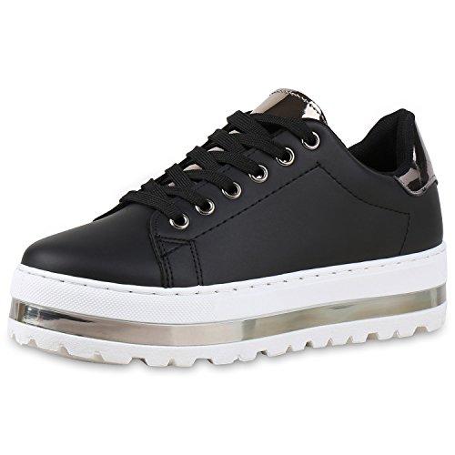 napoli-fashion - Zapatillas Mujer negro/plateado