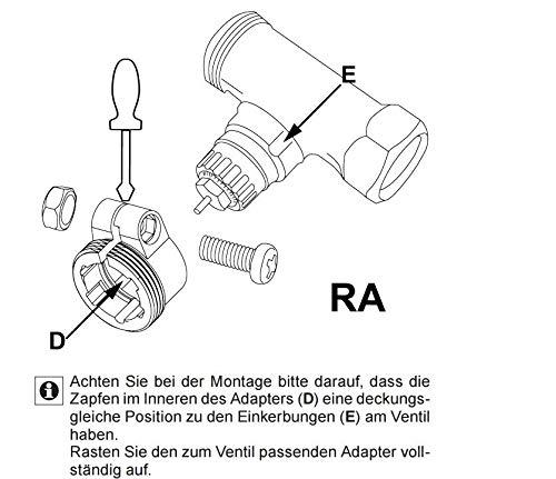 Adapter Adapterring f/ür Danfoss Heizk/örperthermostate Heizungsventile RA