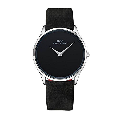Luxury Ultra Thin Quartz Watches for Men Genuine Leather Strap Brand Wrist Watch 2219G