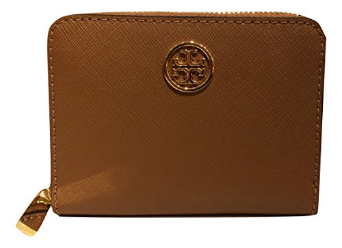 Tory Burch Robinson Zip Saffiano Leather Coin Case (Tiger...