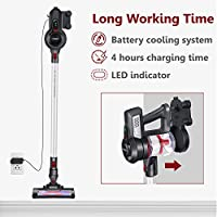Cordless Vacuum Cleaner, Lightweight Stick Handheld Vacuum, 12Kpa Powerful Vacuum Cleaner with Li Ion Battery, Low noise Home Vacuum, 40 Minutes