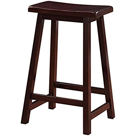 Linon Home Saddle Stool 24 Inch