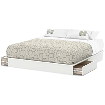 Amazoncom South Shore Step One Platform Bed with Drawers King