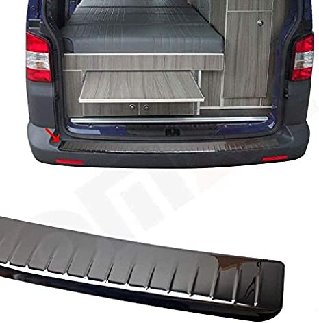 TRANSPORTER//CARAVELLE//MULTIVAN T5 Stainless Steel Chrome Rear Bumper Protector Scratch Guard 2003-2015