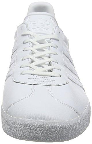 adidas Gazelle, Zapatillas para Hombre Blanco (Ftwr White/Ftwr White/Gold Metallic)