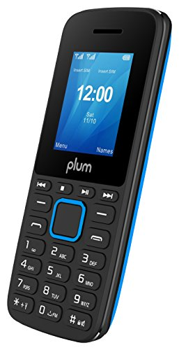 Plum Unlocked Cell Phone GSM Worldwide Dual Sim Camera FM Radio Bluetooth MP3 Player SD Card Slot Feature, 1.8
