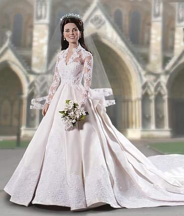 Franklin Mint Kate Middleton Royal Wedding Vinyl Portrait Doll