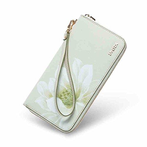 Female paragrafo estate della borsa signora Lunga cerniera portafoglio donne borse in pelle stampa portafogli grande capacità