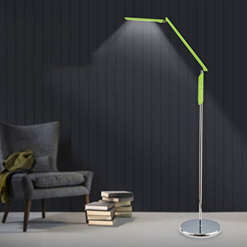 WB_L Floor Lamps Modern Touch LED Regular Floor Lamp for Living Room Bedroom Eye Protection Piano Lamp (stepless Adjustable Light, Color) (Color : Green)