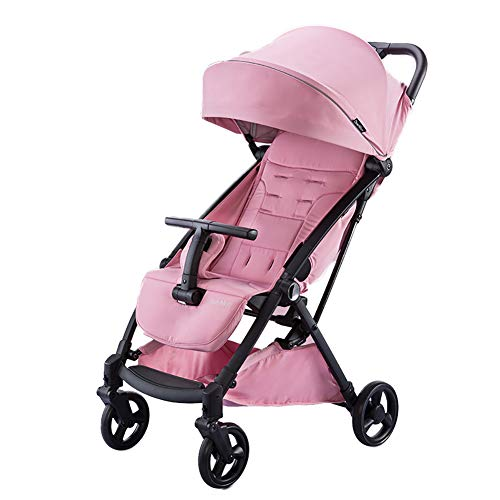 AMENZ Pushchairs,Pram Stroller,Stroller, High Landscape,Away from Automobile Exhaust, Detachable,with Comfortable Head Rest, 0-4 Years Old Newborn – Pink
