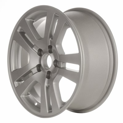 11 12 13 Ford Edge Alloy Wheel; 17 X 7.5; 40mm Offset; 5 Double Spokes 5 Lug 4.5 Inch Bp 63.4 Mm Center Bore ALL Painted Silver (Silver 5 Lug)