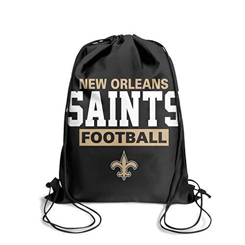 KEVE JAM Sackpack String Pull String Athletic Easy Drawstring Bags (Pullover Jacket Orleans New Saints)