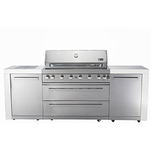 44'' Mont Alpi MAI805 Outdoor Barbeque Island by Mont Alpi