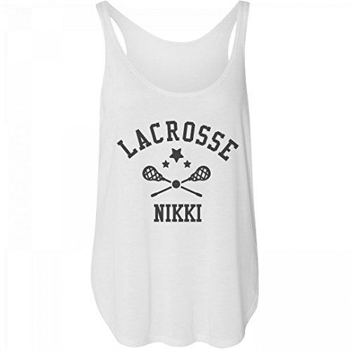 Personalized Lacrosse Girl Nikki: Bella Women's Flowy Tank with Side Slit (Nikki Bella Outfit)