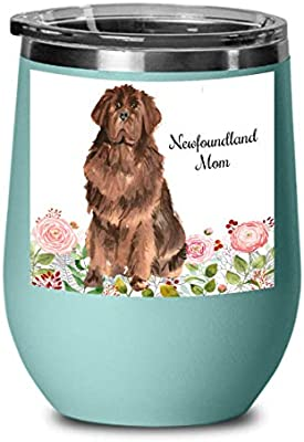 Newfoundland Dog gift Wine Glasses