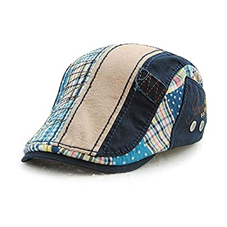 Amazon.com: Daisy Storee Retro Beret Hats for Men Newsboy Caps for Women Cotton Visors Sun hat Gorras Planas Flat Caps Adjustable Casquette Homme: Kitchen & ...